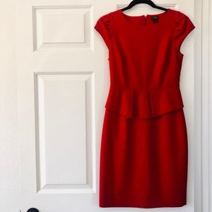 Peplum J.Crew Dress in Red 🌹